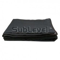 Melna skatuves drapērija 6x4m