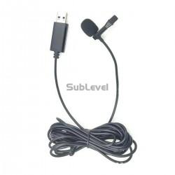USB clip on mikrofons