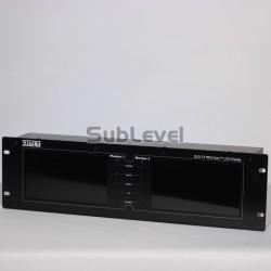 Divu video monitoru iekārta