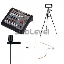 Video/audio podkāsta ieraksta komplekts
